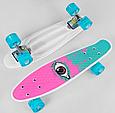 Скейт Пенні борд S 29661 пластик-антиковзаючий, алюмінієва підвіска, колеса ПУ d=4.5 см, дошка=55 см, фото 2