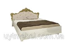 Ліжко Дженіфєр 1600 з підйом. мех. м'яка спинка радіка беж (Міромарк)
