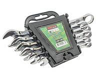 Набор ключей комбинированных, 6 рожково-накидных. Ключи разных размеров рожковые+накидные King STD KSP-1-006