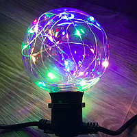 Новорічна світлодіодна лампа куля G95 Едісона Е27 різнобарвна Colorful