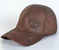Мужская модная Кожанная теплая кепка на флисе с ушками - TOYOTA (кофе)