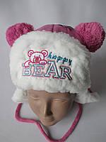 Детские шапочки на овчине для мальчиков и девочек.