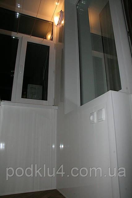 Обшивка балконов изнутри