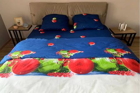 Новогоднее постельное белье Елочные шары комплект семейный, фото 2