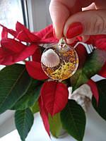 Кулон из ювелирной смолы с ракушкой, фото 1
