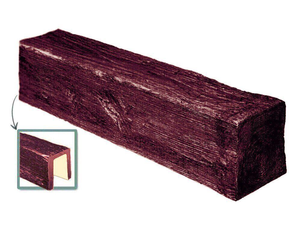 Балка Decowood модерн 9х6см красное дерево