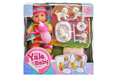 """Пупс """"Yale baby"""" функціональний з собачками в коробці YL1913A р.18*18*9см"""