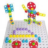 Конструктор-мозаика с шуруповёртом Creative Puzzle Mosaic 193 детали в удобном кейсе + наклейки, фото 5