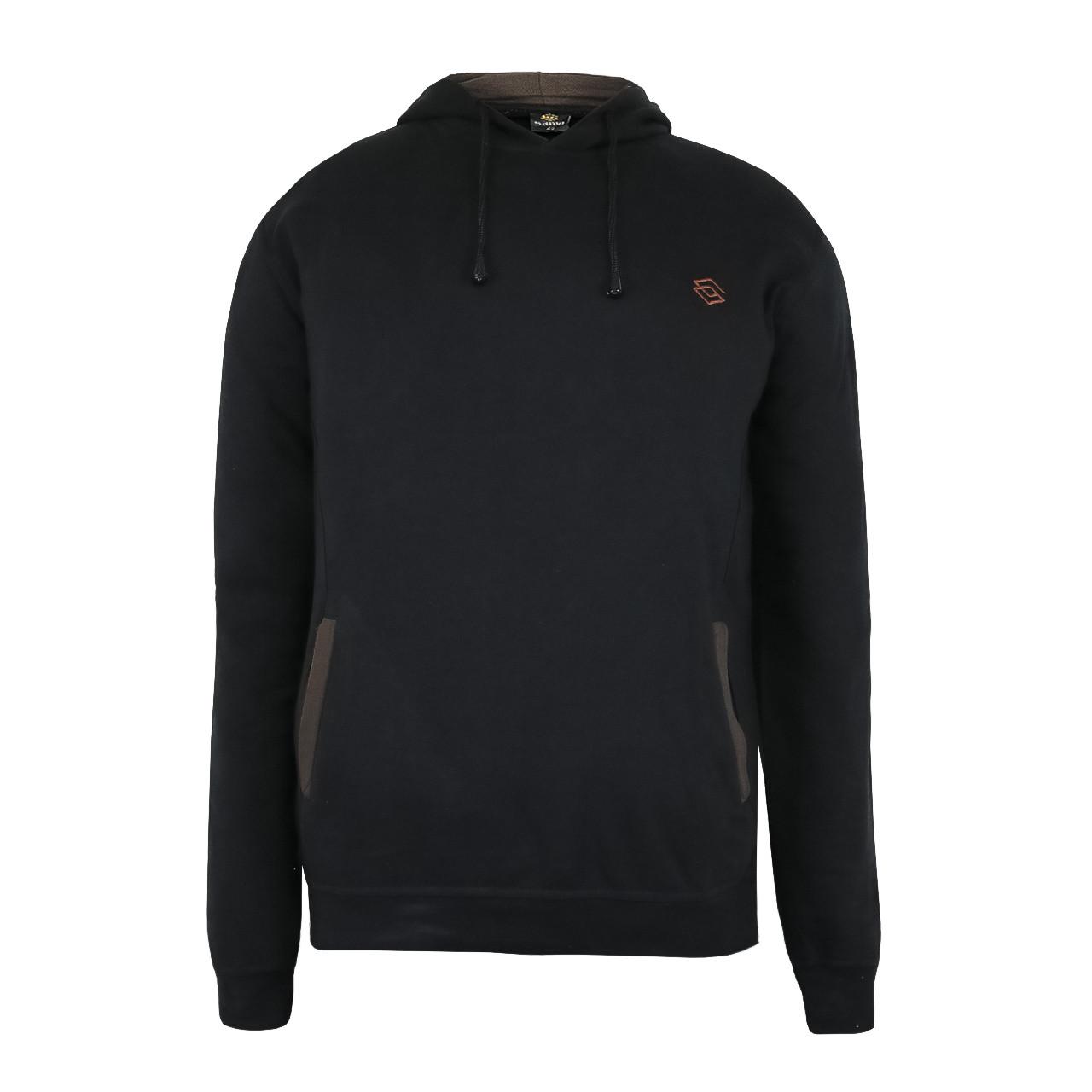 Кофта мужская спортивная c капюшоном черная с карманами р.46-54