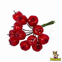 Декоративные яблоки красные 1 шт Диаметр 1,9 см на проволоке