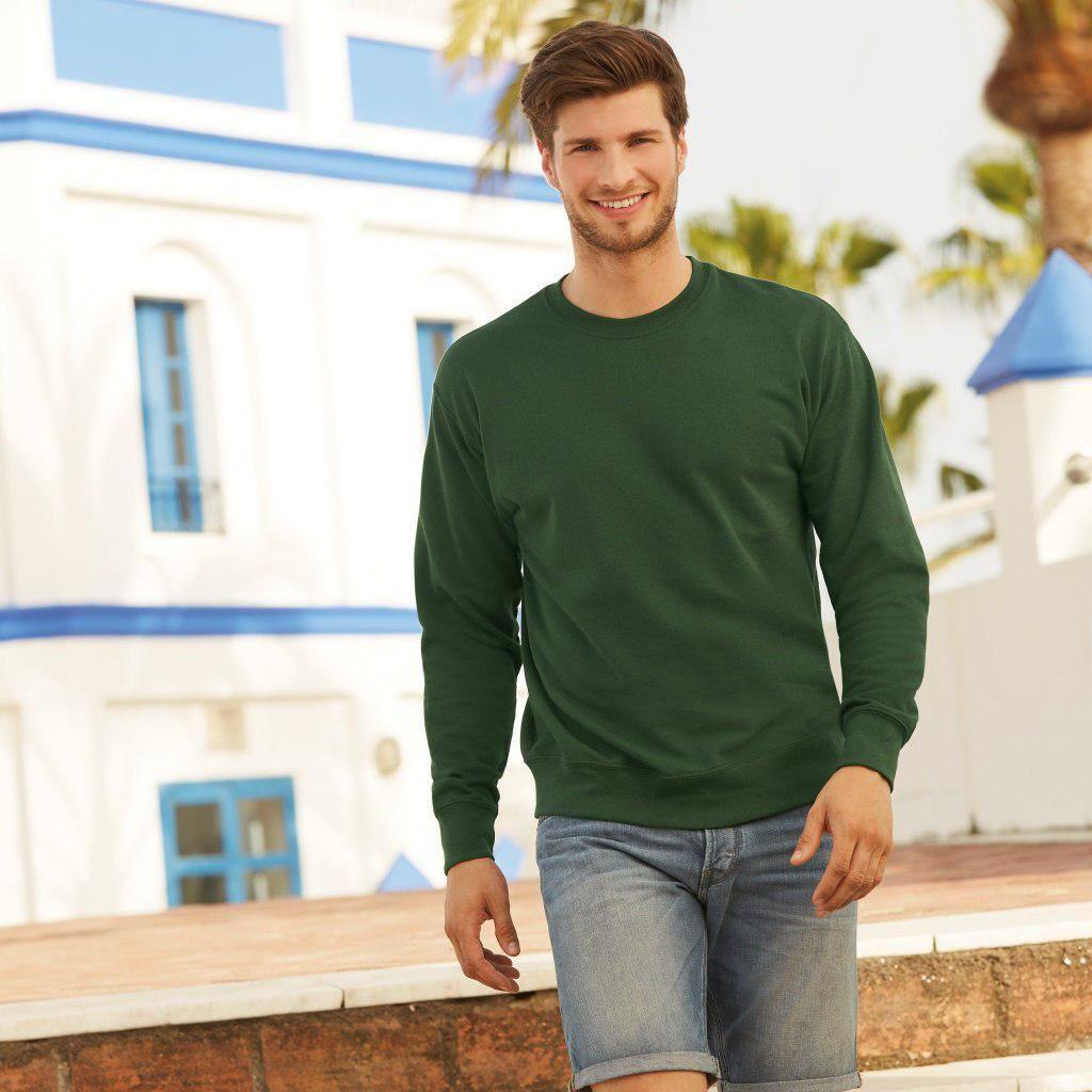 Мужской свитшот, батник, реглан мужской, свитер  Fruit of the loom