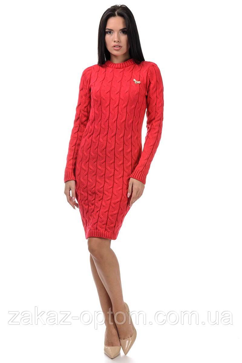 Платье вязаное женское оптом(46-50)Украина-64722