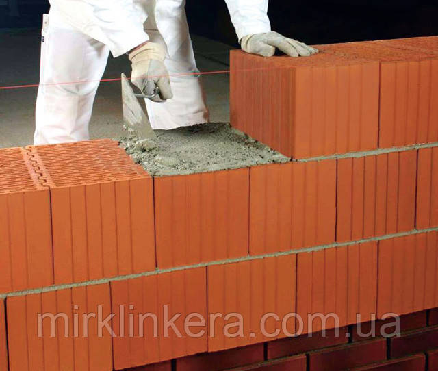 кладка из керамического блока Леер