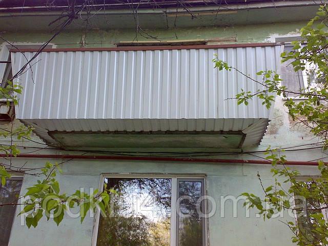 Обшивка балконов снаружи