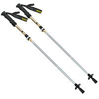 Палиці скандинавські телескопічні трекінгові для скандинавської ходьби ZELART 2 шт Жовті (TY-0466-5)