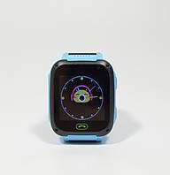 Детскиe умные часы-телефон с GPS, кнопкой SOS Smart Watch F2 с фонариком голубые