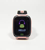 Детскиe умные часы-телефон с GPS, кнопкой SOS Smart Watch F2 с фонариком розовые