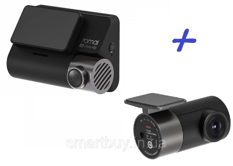 Видеорегистратор Xiaomi 70mai Dash Cam A800 Ultra HD + Rearview Cam русскоязычный (гарантия 12 месяцев)