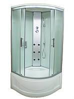 Гидромассажный бокс Sunlight 470 стекло 90F сатин 90х90х215 см Белый, КОД: 1371054