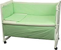 """Детский постельный набор в кроватку Ведмедик с вышивкой ТМ """"Руно"""""""