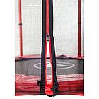 Батут Atleto 140 см с сеткой красный, фото 4