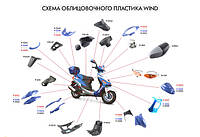 Пласти на скутер Viper Wind