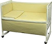 """Детский постельный набор в кроватку 120х60см 4 предмета желтый ТМ """"РУНО"""""""