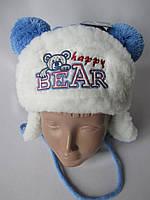 Зимние шапки-ушанки для мальчиков и девочек.