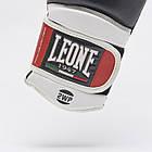 Боксерские перчатки кожаные Leone Tecnico 10 oz унций черный, фото 2