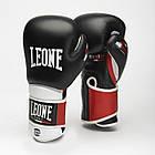Боксерские перчатки кожаные Leone Tecnico 10 oz унций черный, фото 5