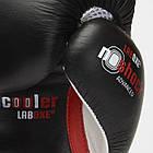 Боксерские перчатки кожаные Leone Tecnico 10 oz унций черный, фото 6