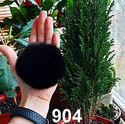 Меховой помпон Кролик, Черный, 8 см, 904