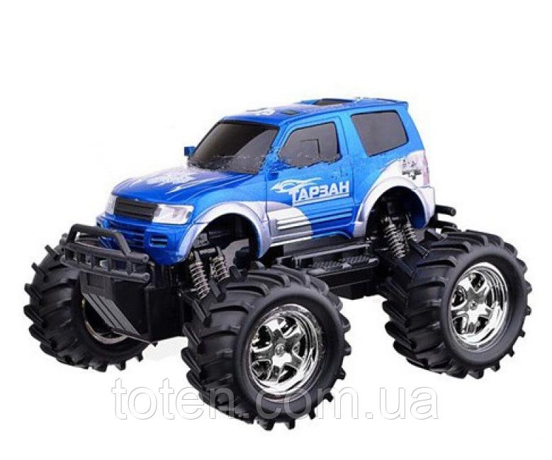 Машинка Джип 21 см Тарзан на радиоуправлении 9003, аккумулятор, резиновые колеса. Синий