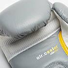 Боксерские перчатки кожаные Leone Tecnico Grey 14 oz унций серый, фото 4