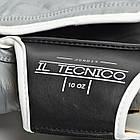 Боксерские перчатки кожаные Leone Tecnico Grey 14 oz унций серый, фото 3