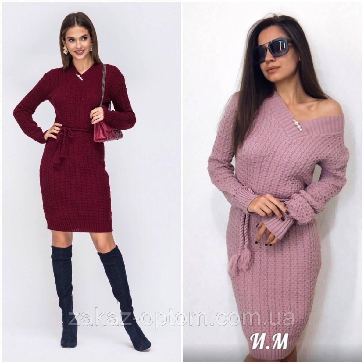 Платье вязаное женское оптом(46-50)Украина-64734