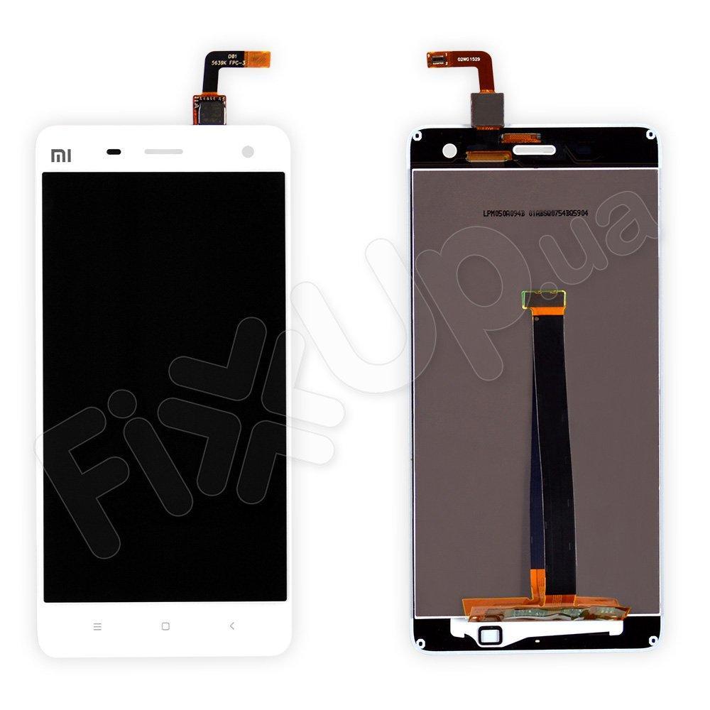 Дисплей Xiaomi Mi4 с тачскрином в сборе, цвет белый, уценка