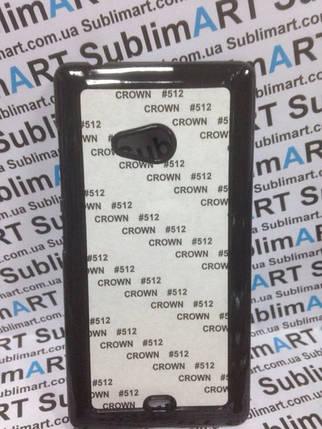Чехол для 2D сублимации пластиковый на Nokia Lumia 560 черный, фото 2