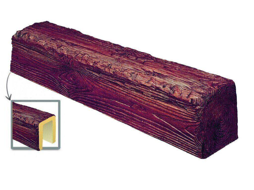 Балка Decowood рустик 12х12см червоне дерево (3м)