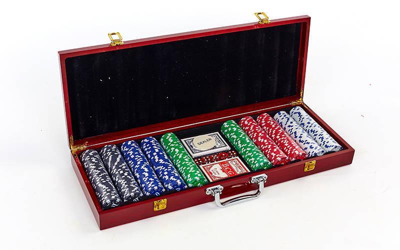 Покерний набір 500 фішок IG-6645