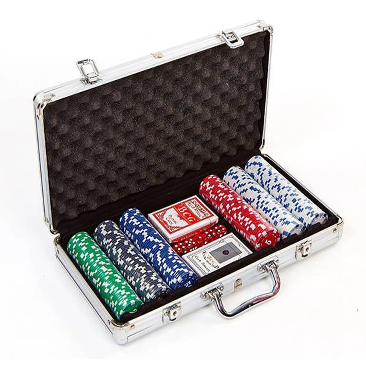 Набор для покера в алюминиевом кейсе на 300 фишек IG-2114