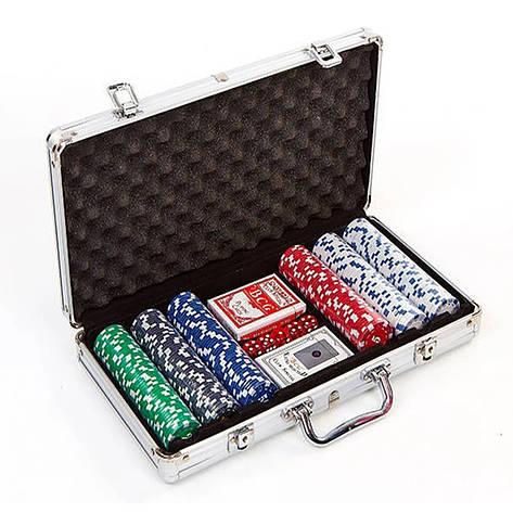 Набор для покера в алюминиевом кейсе на 300 фишек IG-2114, фото 2