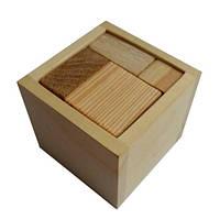 Деревянная головоломка Круть Верть Упаковка 1 5х6х6 см nevg-0030, КОД: 119442