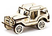 Механический деревянный 3D пазл SUNROZ Автомобиль Джип 45 элементов SUN1742, КОД: 127660