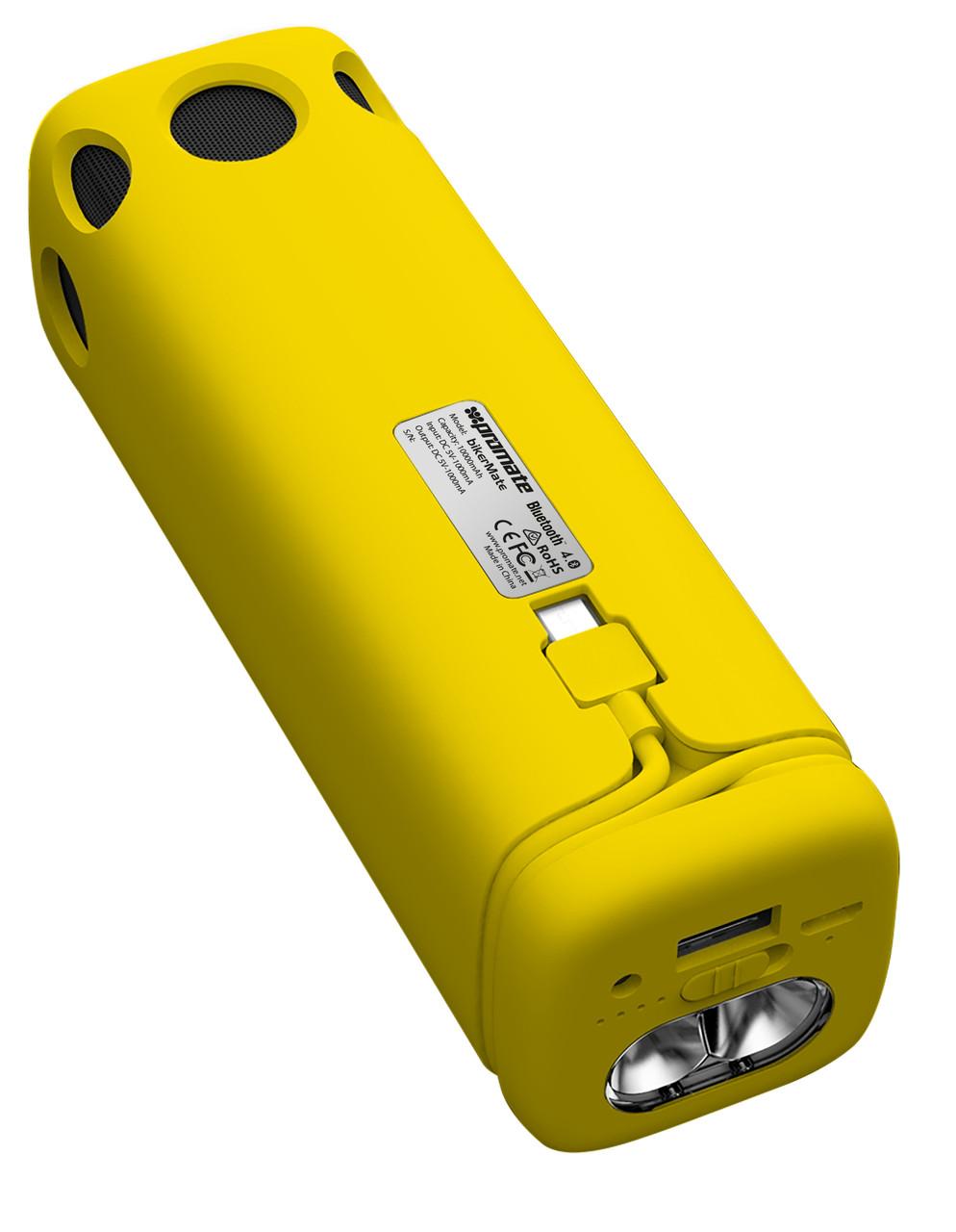 Bluetooth колонка Promate BikerMate Yellow (Распакован)