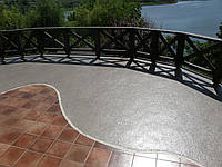 Гідроізоляція експлуатованої плоскої покрівлі з декоративним покриттям, фото 1