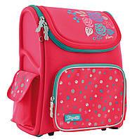 Рюкзак шкільний каркасний 1 Вересня H-17 Lovely roses Рожевий 556331, КОД: 1247952