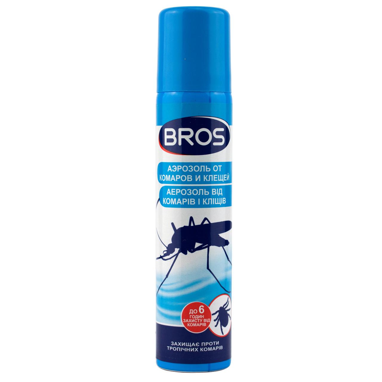 Аэрозоль от комаров и клещей Bros 90 мл