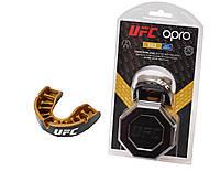 SALE Капа OPRO Junior Gold UFC Hologram Black Metal/Gold (art.002260001), фото 1