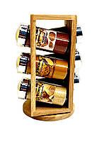 Набор специй в деревянной подставке 6 штук